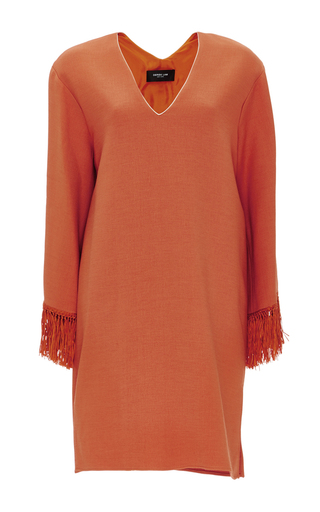 Orange Wool Silk Blend Caftan Tunic by DEREK LAM Now Available on Moda Operandi