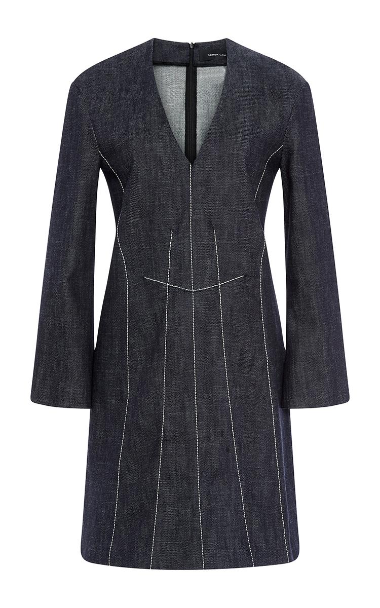 Cotton A-Line Dress wi...