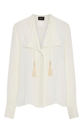 Medium derek lam white silk blouse with tassels