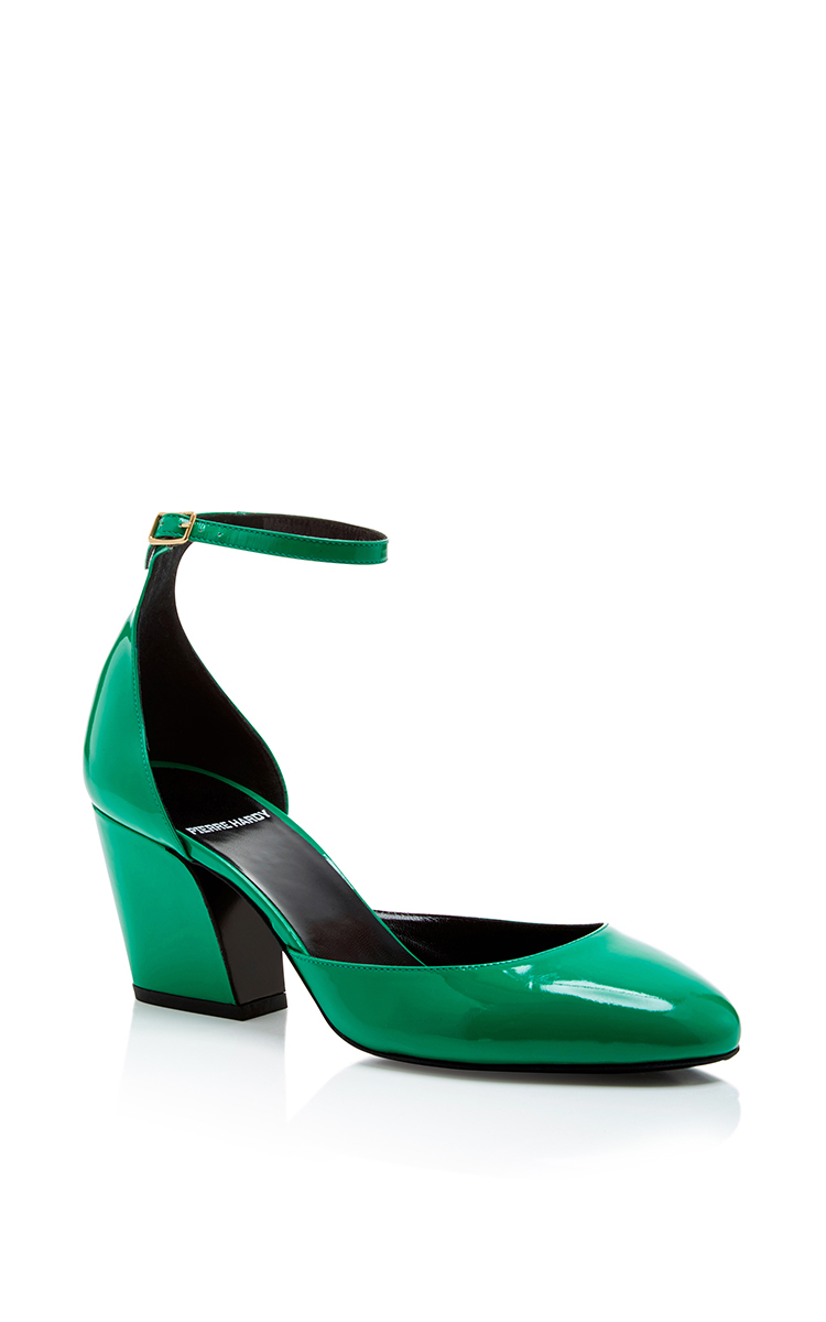 Green Patent Leather Calamity Heels