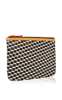 Signature Leather And Canvas Pouch by PIERRE HARDY Now Available on Moda Operandi