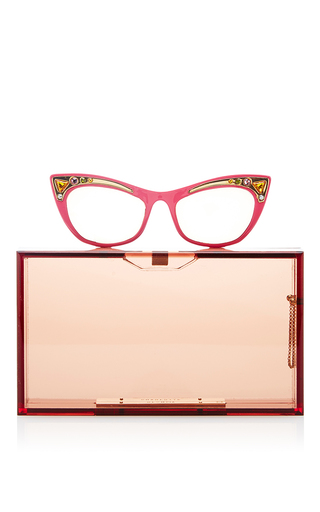 Spectacles Pandora Rectangular Clutch by CHARLOTTE OLYMPIA Now Available on Moda Operandi