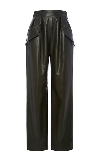 Medium adam lippes dark green army leather peg pants
