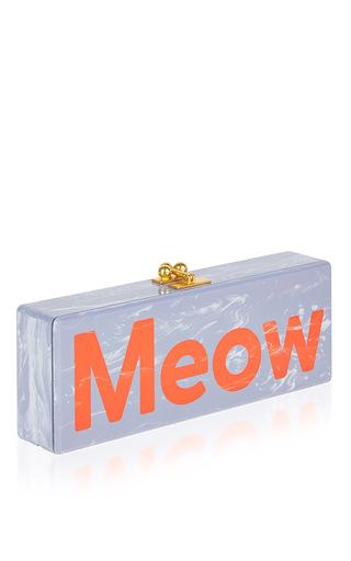 Medium edie parker blue flavia meow clutch