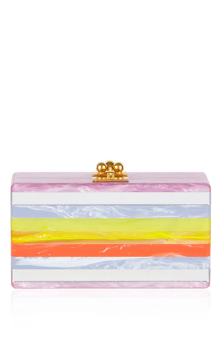 Medium edie parker stripe jean striped short rectangular box clutch
