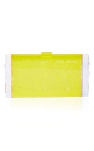 Lara Backlit In Acid Yellow & Nude by EDIE PARKER Now Available on Moda Operandi