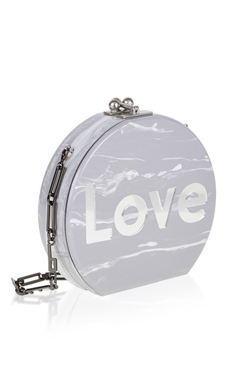 Medium edie parker light grey oscar love shoudler bag