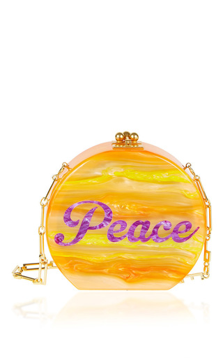 Medium edie parker orange oscar peace shoudler bag