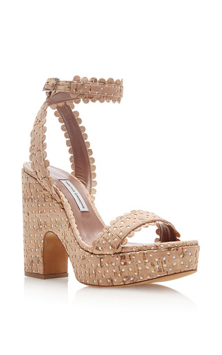 Harlow Perforated Cork Platform Sandals by TABITHA SIMMONS Now Available on Moda Operandi