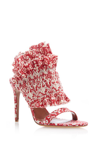 Smocked Linen Sandals by TABITHA SIMMONS Now Available on Moda Operandi
