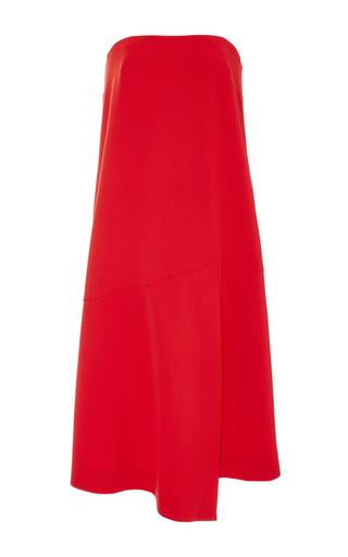 Medium tibi red strapless drape dress