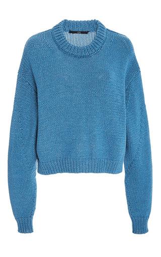 Medium tibi blue melange sweater
