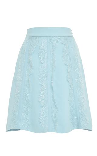 Medium elie saab light blue cady and lace short skirt