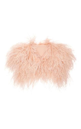 Medium elie saab light pink ostrich feather sleeveless shrug