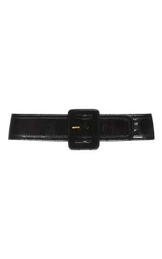 Black Patent Leather Buckle Belt by ISA ARFEN Now Available on Moda Operandi