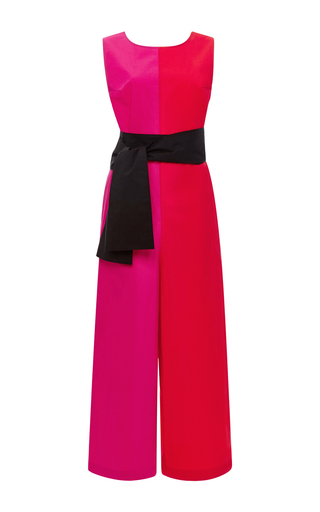 Two Toned Flared Jumpsuit by ISA ARFEN Now Available on Moda Operandi