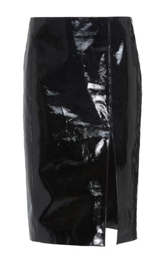Medium sonia rykiel black patent leather skirt