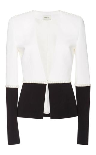 Medium mugler black bi color fitted cady jacket