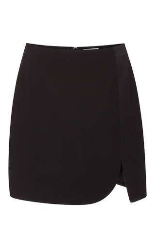 Medium mugler black fitted cady mini skirt