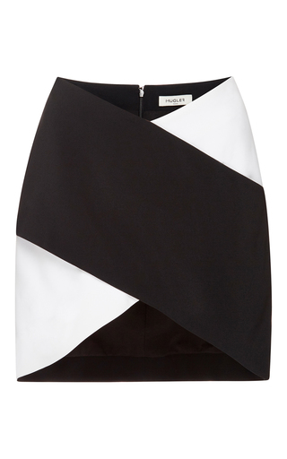 Medium mugler black bi color fitted cady skirt