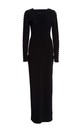 Medium temperley london black long thalia dress