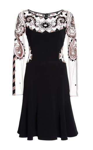 Medium temperley london black maryana sleeved dress