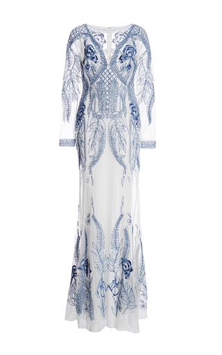 Medium temperley london blue v neck stefania dress