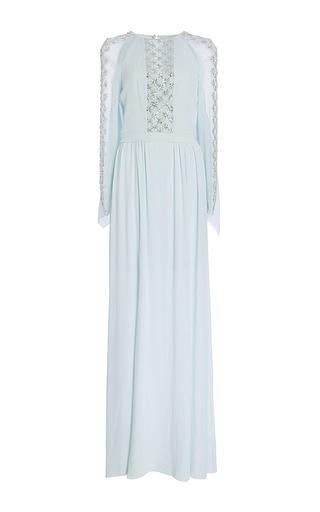 Medium temperley london green long trixie lattice cape dress