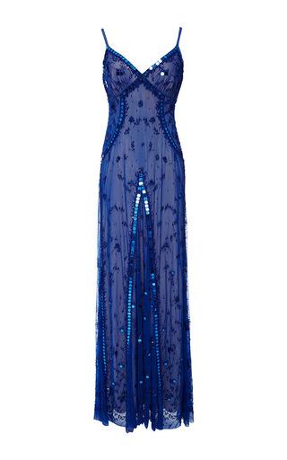 Medium temperley london royal blue long klementina dress
