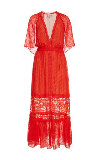 Medium temperley london red mandarin red long holzer dress