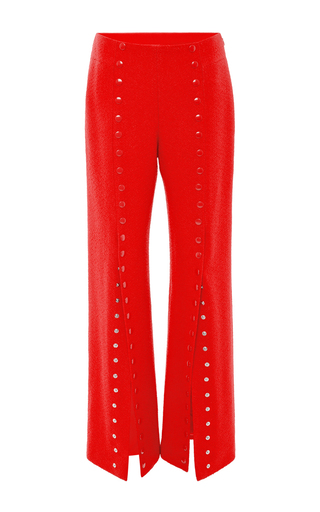 She's Come Undone Snap Front Pants  by ROSIE ASSOULIN Now Available on Moda Operandi