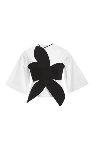 Cotton Flower Stamp Top With Shell by ROSIE ASSOULIN Now Available on Moda Operandi