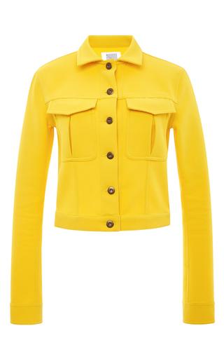 Medium rosie assoulin yellow waffle cotton denim jacket