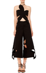 Cotton Twill Flower Cut Out Pants by ROSIE ASSOULIN Now Available on Moda Operandi