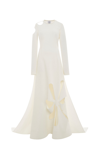 Medium rosie assoulin white matisse cut out gown
