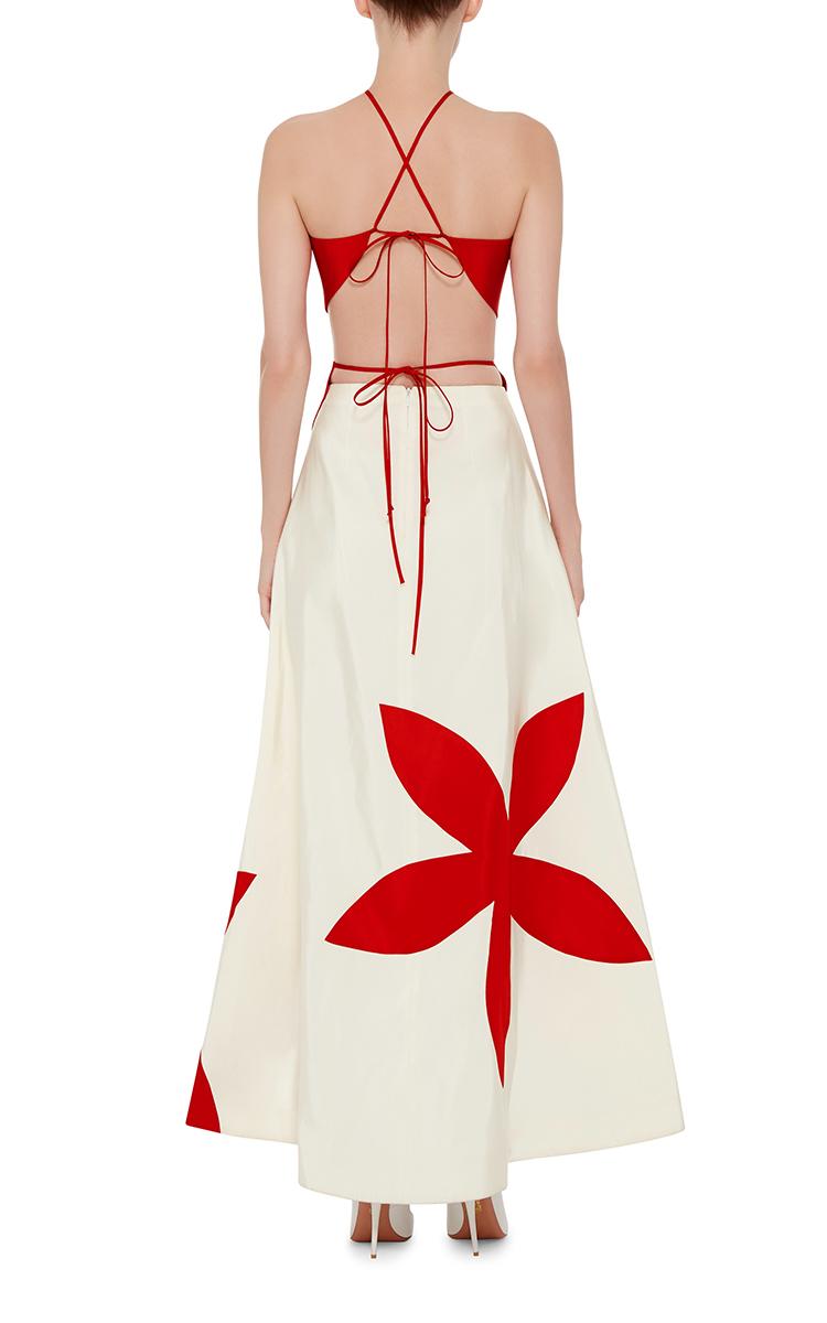 Silk Flower Stamp Bicolor Gown By Rosie Assoulin Moda Operandi
