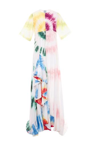 Medium rosie assoulin white cotton poplin gonzo gown with ruffles