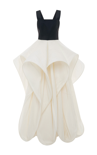 Medium rosie assoulin ivory foxglove gown
