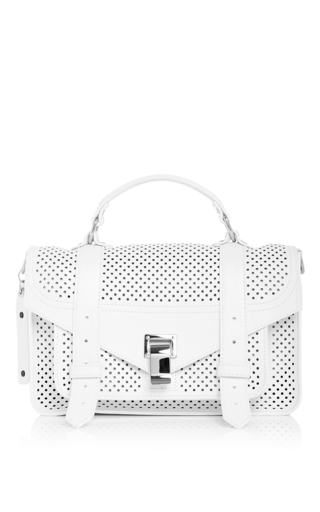 Medium proenza schouler white ps1 perforated leather tiny messenger bag