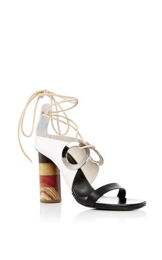 Medium proenza schouler white grommet tie up sandals