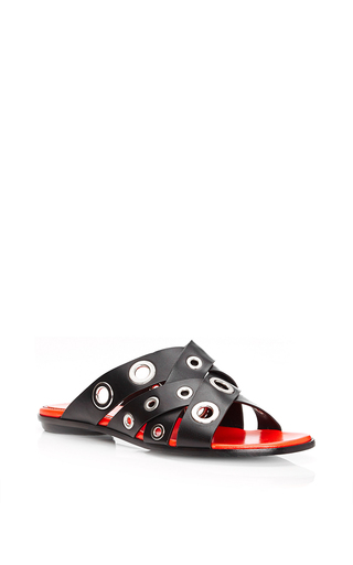Calf Leather Eyelet Sandals by PROENZA SCHOULER Now Available on Moda Operandi