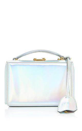 Medium mark cross silver grace mini box bag in silver rainbow