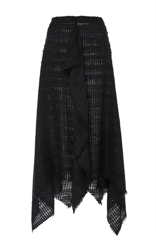 Open Weave Tweed Skirt With Handkerchief Hem by PROENZA SCHOULER Now Available on Moda Operandi