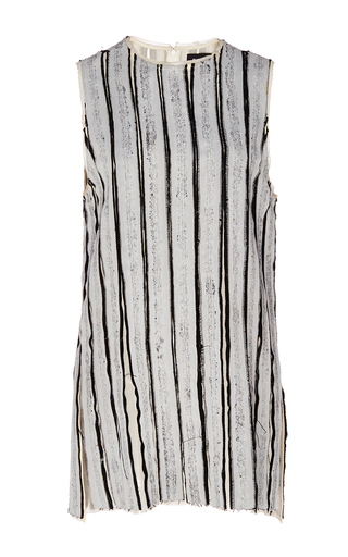 Medium proenza schouler light grey sleeveless silk top
