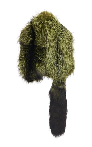 Medium sonia rykiel green pear green fox fur scarf