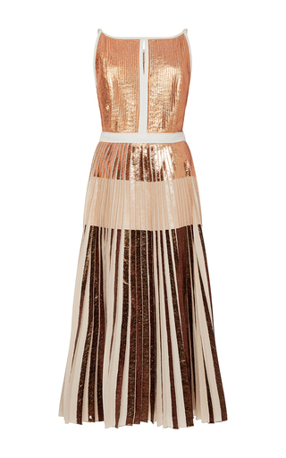 Sleeveless Foil Printed Cloqué Dress by PROENZA SCHOULER Now Available on Moda Operandi
