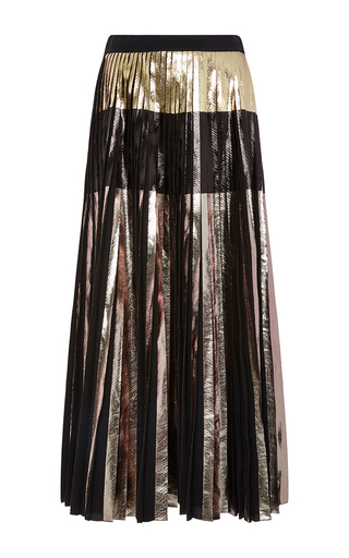 Medium proenza schouler multi foil printed cloque pleated skirt