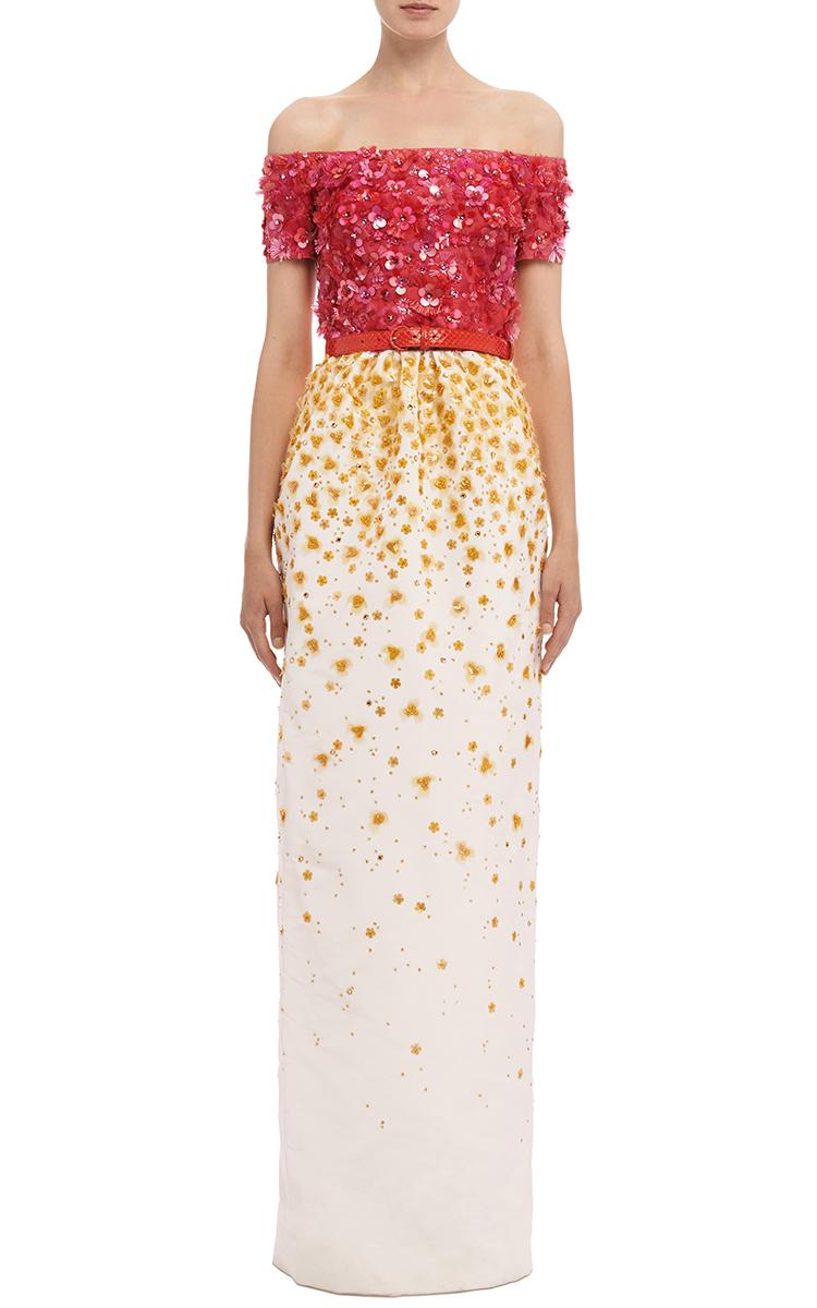 72e4defab2a Oscar de la RentaSilk Organza Ombré Sequined Gown. CLOSE. Loading