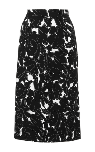 Medium oscar de la renta black asymmetric pencil skirt