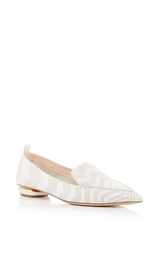 Beya Perforated Pointed Toe Loafers by NICHOLAS KIRKWOOD Now Available on Moda Operandi